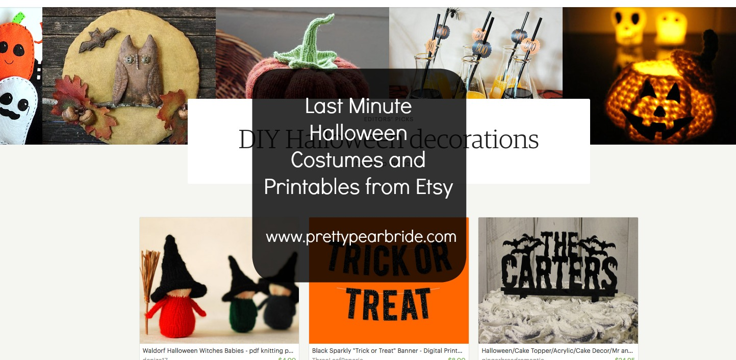 LIFESTYLE | Last Minute Halloween Costumes and Printables from Etsy | Pretty Pear Bride