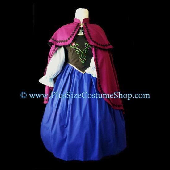 plus size anna frozen costume