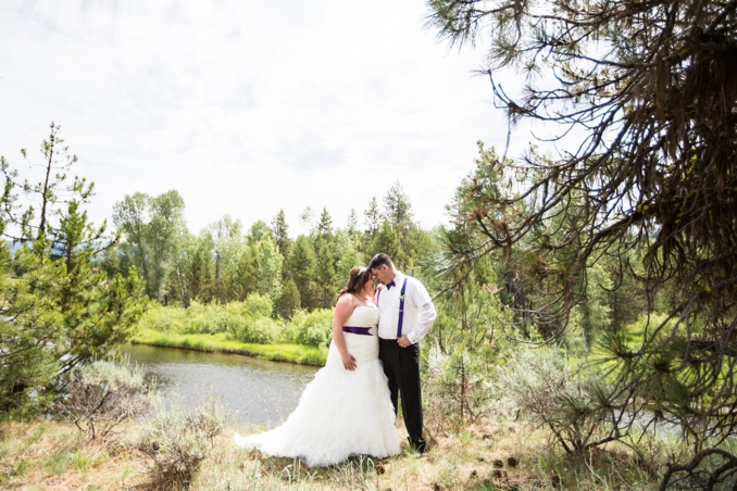REAL WEDDING | Purple and Teal Idaho Summer Mountain Wedding | Bon Vivant Studios | Pretty Pear Bride