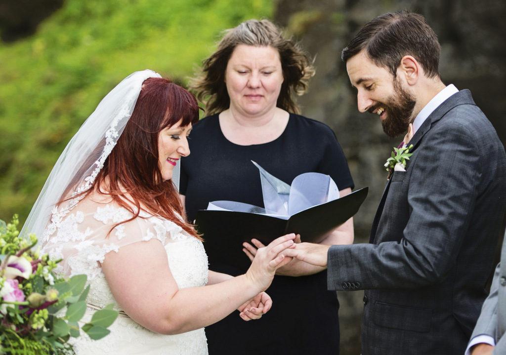 REAL WEDDING   GOLD, GRAY AND BLUSH ICELAND WEDDING   Christina Barnum Photography   Pretty Pear Bride