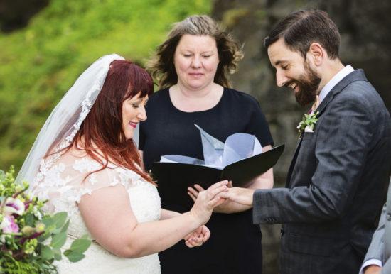 REAL WEDDING | GOLD, GRAY AND BLUSH ICELAND WEDDING | Christina Barnum Photography | Pretty Pear Bride