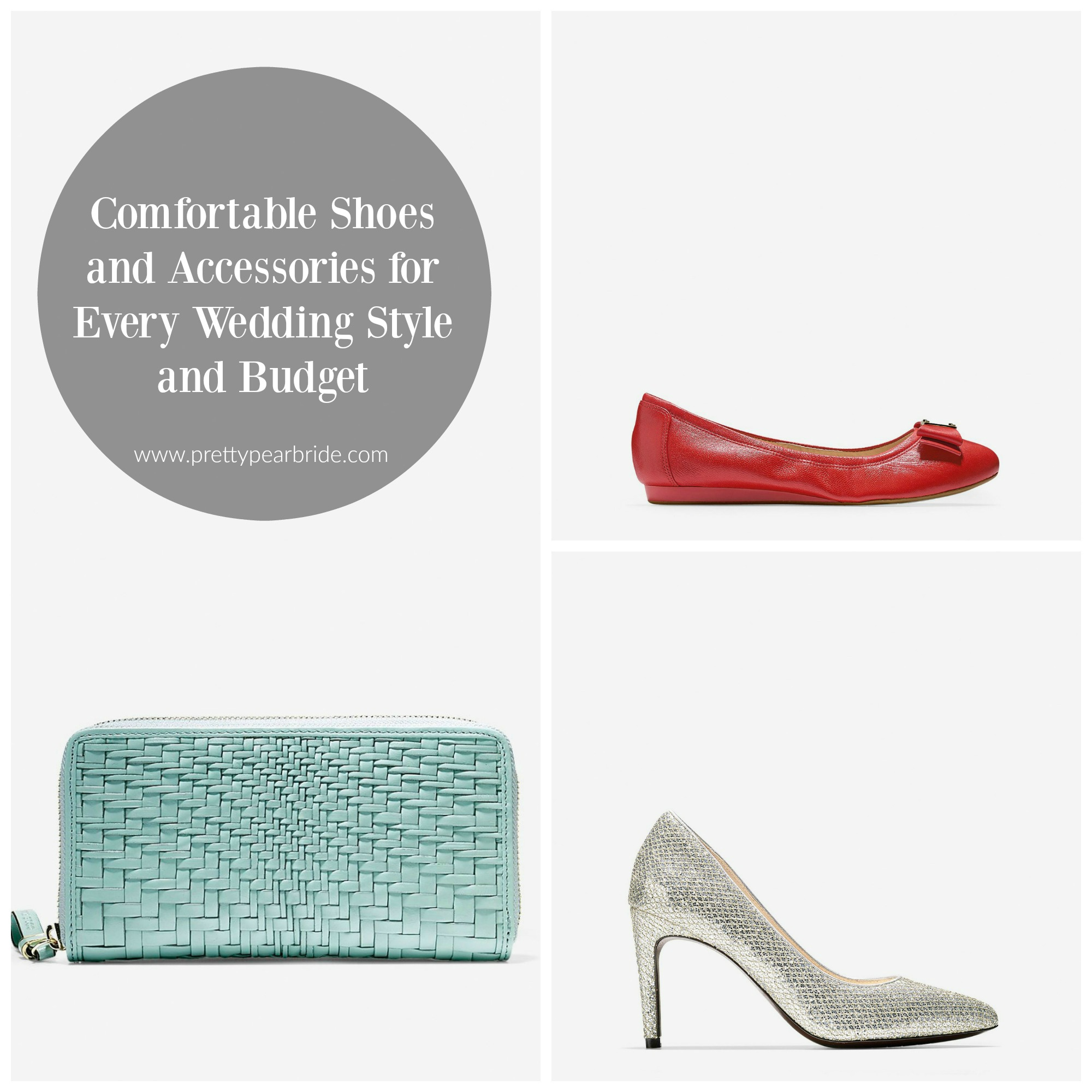 FASHION FRIDAY | Comfortable Shoes and Accessories for Every Wedding Style and Budget | Pretty Pear Bride