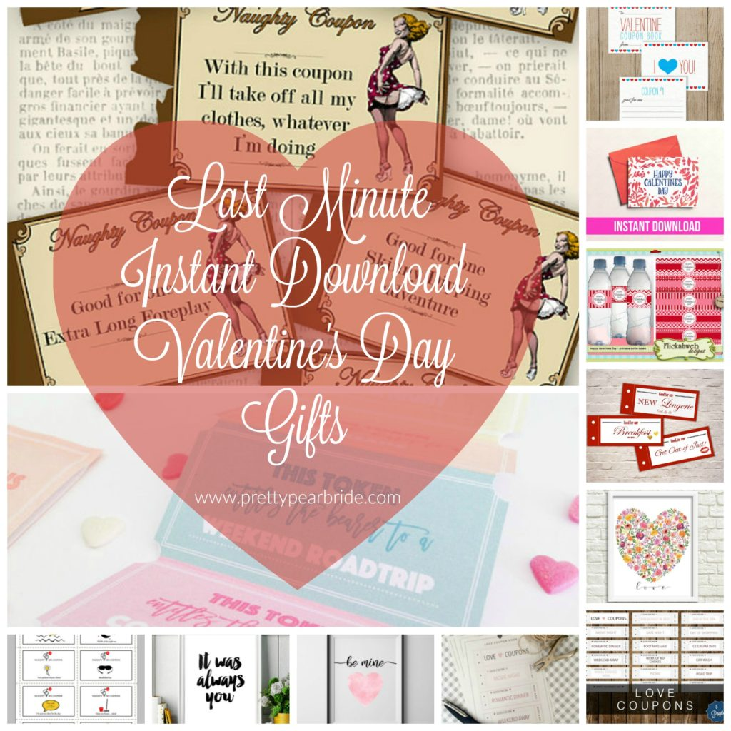 MUST HAVE MONDAY   Last Minute Instant Download Valentine's Day Gifts   Pretty Pear Bride