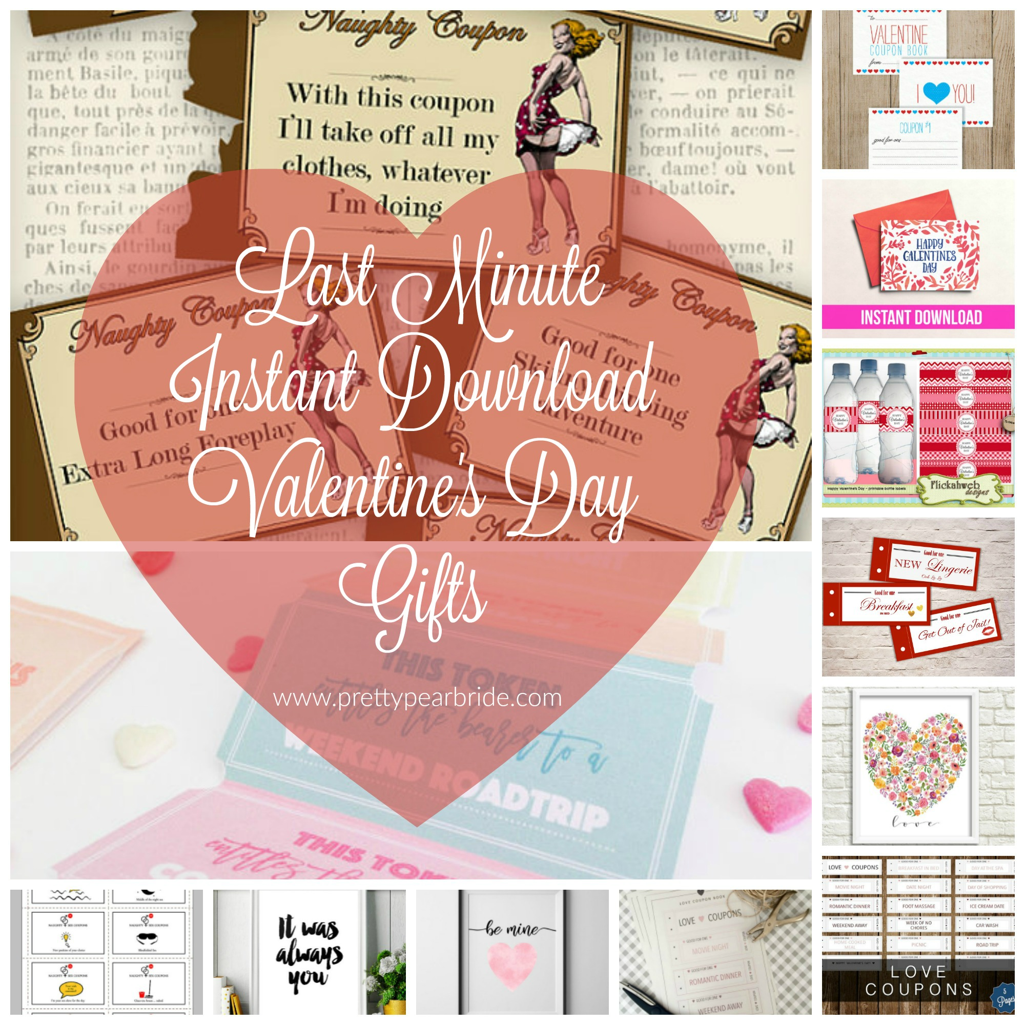 MUST HAVE MONDAY | Last Minute Instant Download Valentine's Day Gifts | Pretty Pear Bride