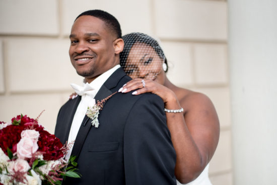 REAL WEDDING | GRAY, PINK AND RED WEDDING IN MARYLAND | TRENIQUE ARTISTRY | Pretty Pear Bride
