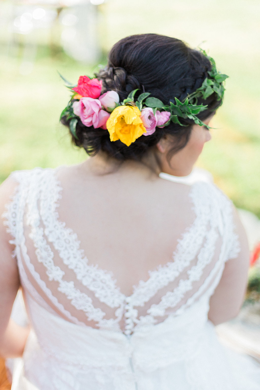 plus size bride, boho plus size bride, floral crown, fiesta wedding