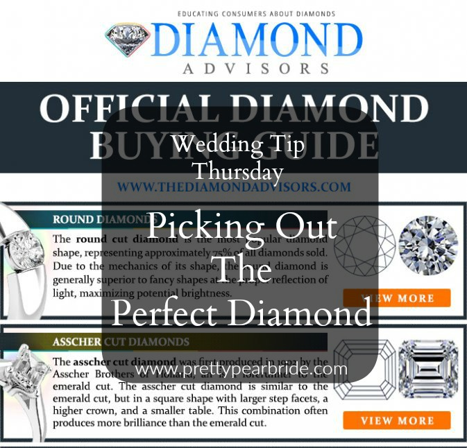 WEDDING TIP THURSDAY | Picking Out the Perfect Diamond | Pretty Pear Bride