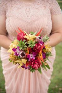 REAL WEDDING   Blush and Plum Tropical Florida Wedding   Kristen Marie Photography   Pretty Pear Bride