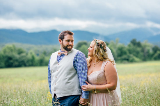 REAL WEDDING | Smoky Mountain Blush and Blue Wedding | Kennedy Blue