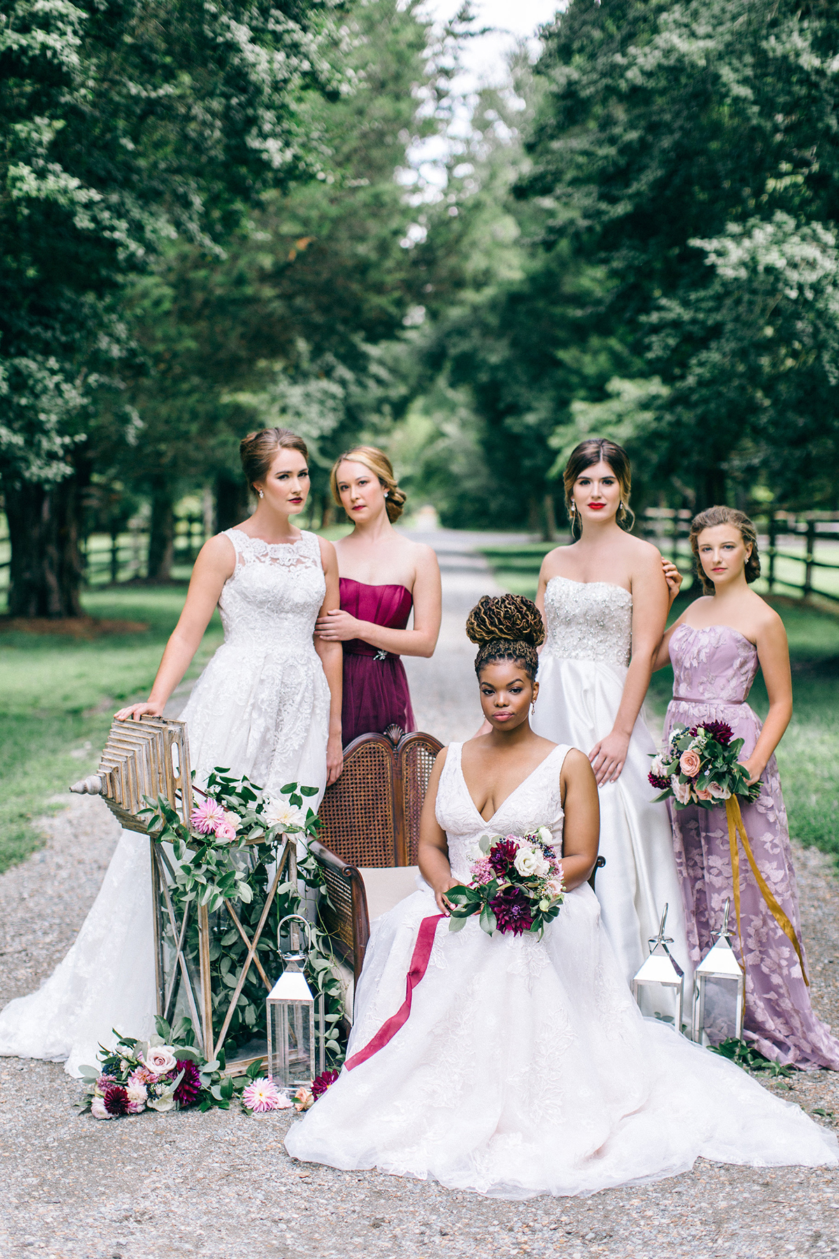 STYLED SHOOT   Romantic Wine, Navy and Blush Wedding Inspiration featuring David's Bridal   Pretty Pear Bride