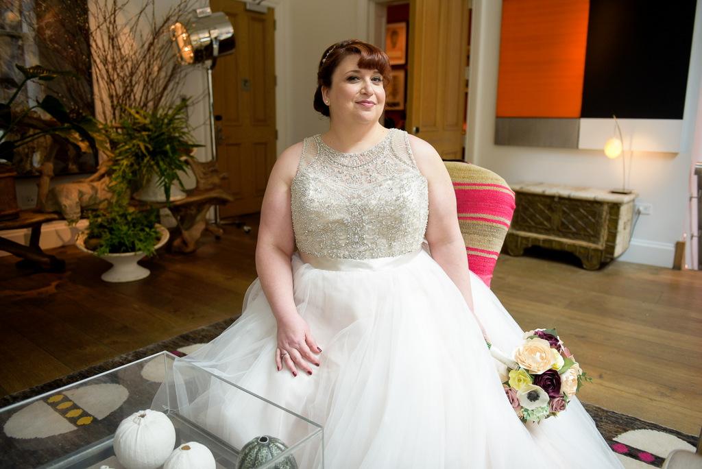 REAL WEDDING | Blush, Burgundy and Yellow New York Bookstore Wedding | John Keon Photo | Pretty Pear Bride