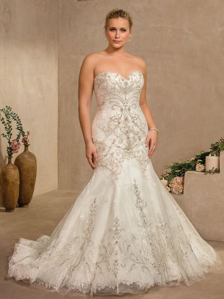 Plus Size Wedding Dress Collection | Casablanca Bridal Wedding Dresses Under $1500 | Pretty Pear Bride