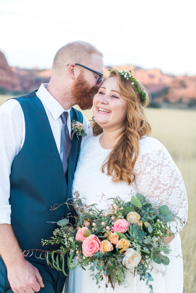 REAL WEDDING | Sunset Mountain Elopement in Utah | Ashalee Soule' Photography | Pretty Pear Bride