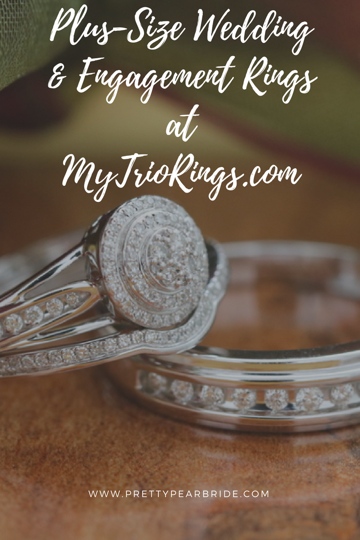 plus size bride, engagement ring, wedding bangs, plus size engagement rings, plus size wedding bands