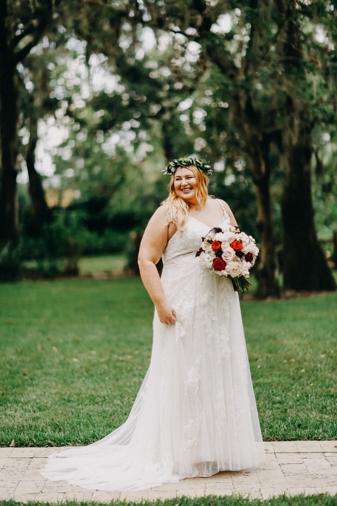 plus size bride, rustic wedding, fall wedding, florida wedding