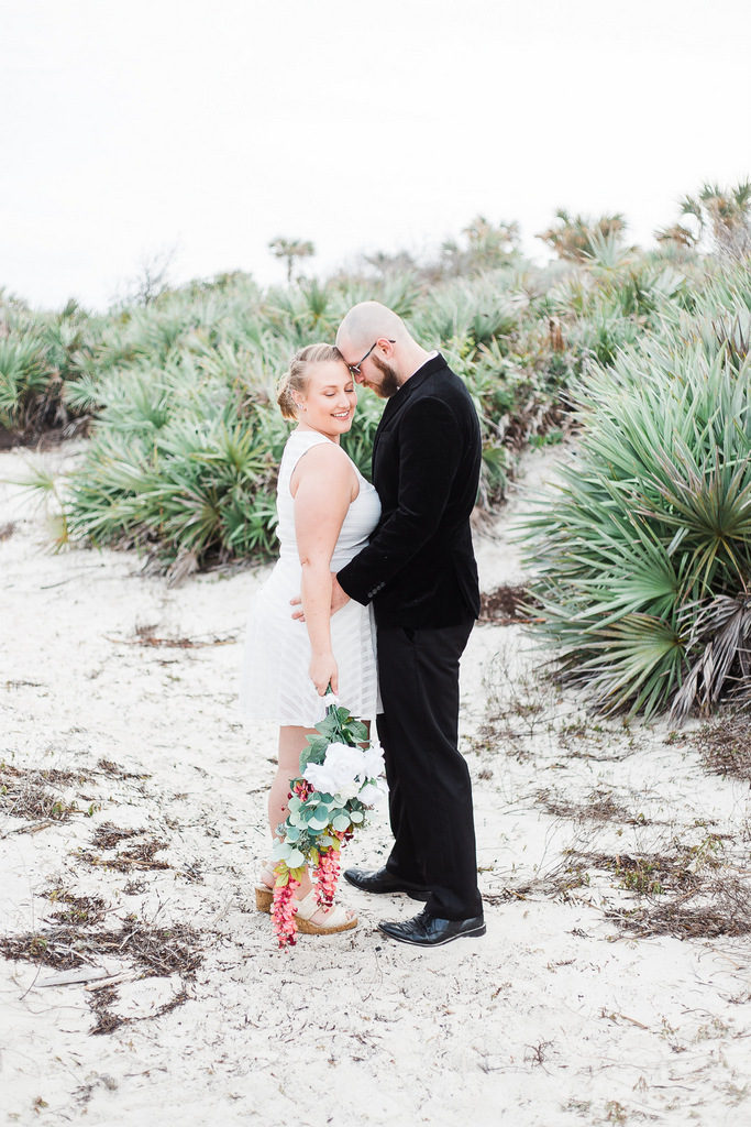 plus size bride, spring elopement, beach styled shoot
