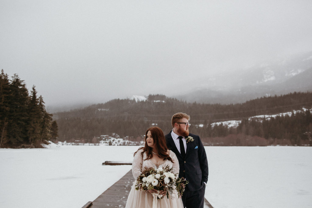 REAL WEDDING | Intimate and Romantic Elopement Style Lake Wedding in Canada | Dani Photography