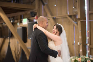 plus size bride with groom