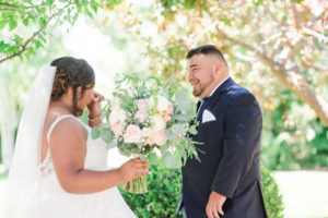 Romantic Garden Wedding, plus size bride,