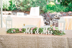 Romantic Garden Wedding, sweet heart table