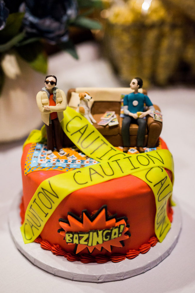 big bang wedding cake