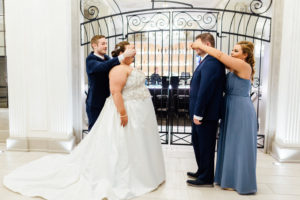 plus size bride, first look