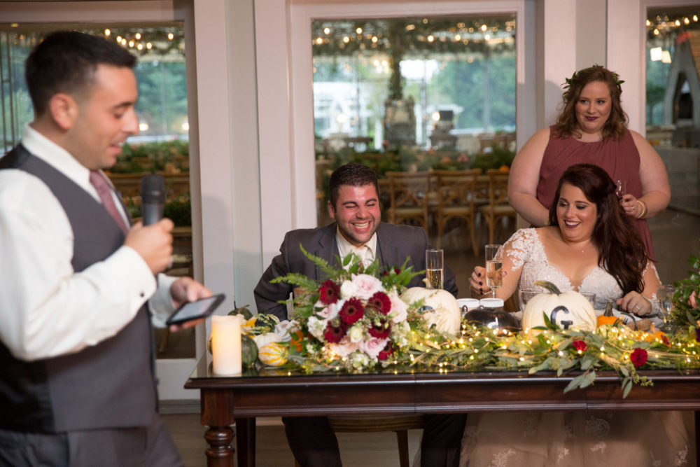 REAL WEDDING: Rustic Chic, Wine and Pizza Themed Fall Wedding in Long Island | Silver Fox | Pretty Pear Bride