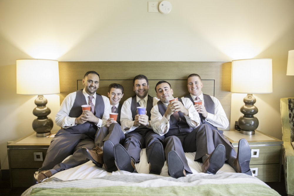 √REAL WEDDING: Rustic Chic, Wine and Pizza Themed Fall Wedding in Long Island | Silver Fox | Pretty Pear Bride
