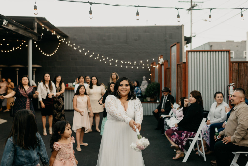 REAL WEDDING | Minimal + Unconventional Long Beach Wedding | Gene Kang Photography | Pretty Pear Bride