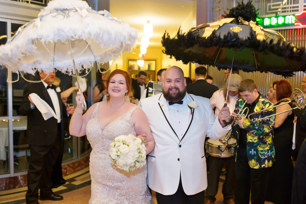 REAL WEDDING | New Orleans Chic and Stylish Unstuffy and Fun Wedding | Secondline Photography | Pretty Pear Bride