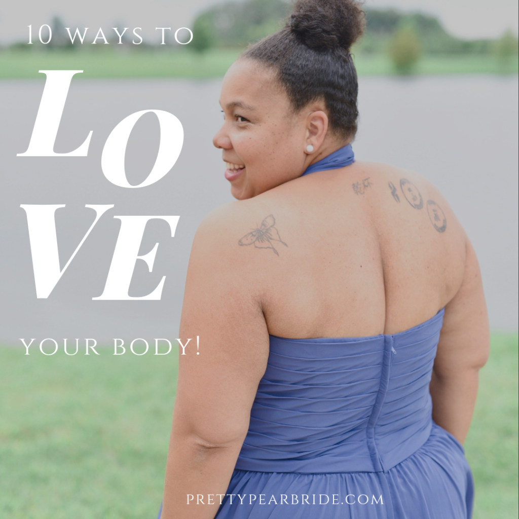 plus size bride, body love, body positivity, pretty pear bride, valentine's day.