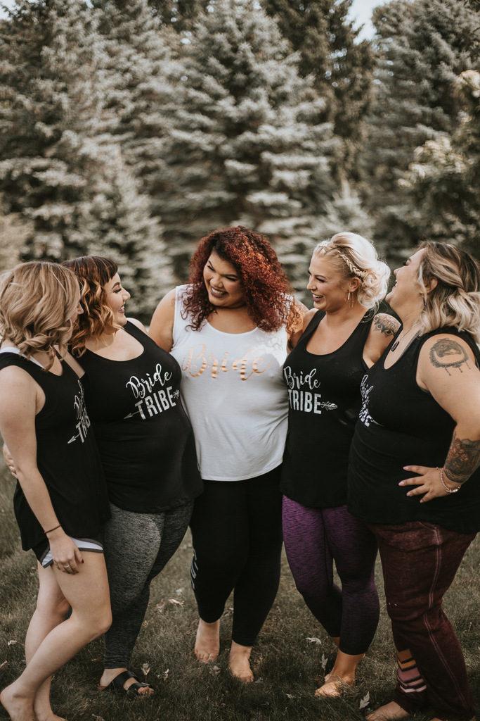 plus size bride, bridesmaids, plus size wedding party shirts