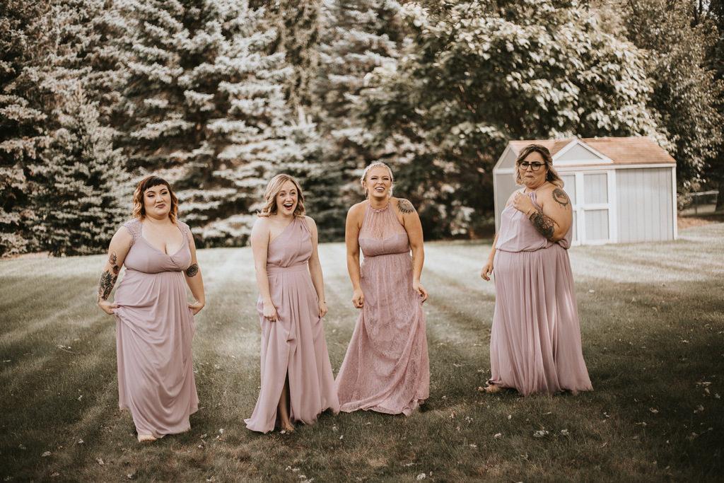 blush bridesmaid dresses,
