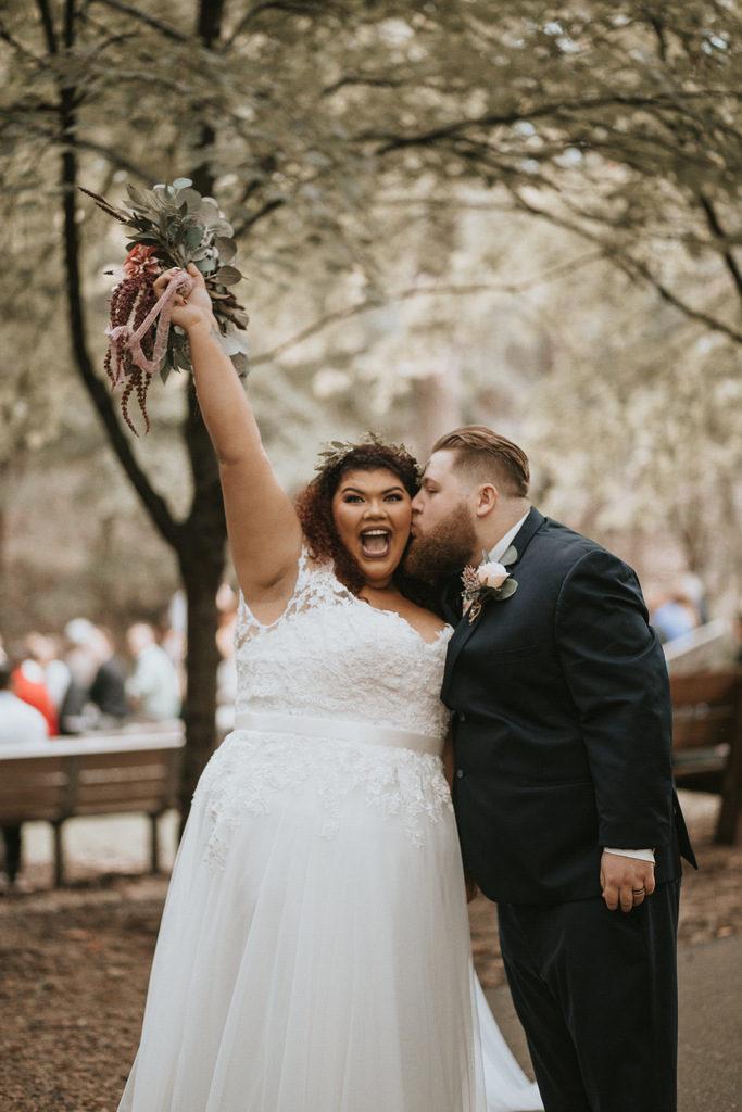 plus size bride, plus size wedding gown, plus size groom