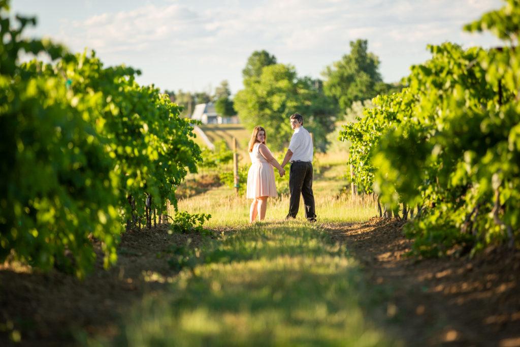 ENGAGEMENT | Blush & Gold Colorado Vineyard Engagement | Lucy Schultz Photography | Pretty Pear Bride