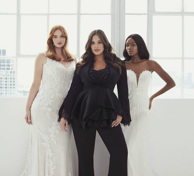 pronovias, ashley graham, plus size bride, plus size wedding gown, plus wedding dress