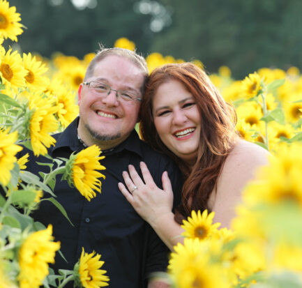ENGAGEMENT   From Football to Sunflowers   Harlow's Photography   Pretty Pear Bride